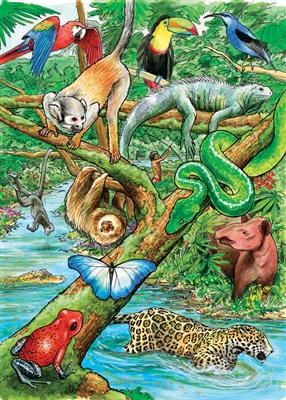 Life Tropical Rainforest Tray Jigsaw Puzzle Item Cobble Hill