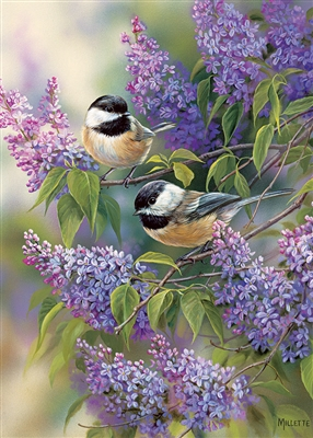 35pc Chickadee Duo Tray Jigsaw Puzzle Item 58877